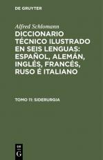 Cover-Bild Alfred Schlomann: Diccionario Técnico Ilustrado en seis lenguas:... / Siderurgia
