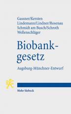 Cover-Bild Biobankgesetz