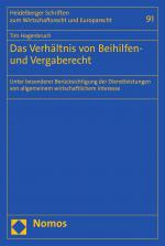 Cover-Bild Das Verhältnis von Beihilfen- und Vergaberecht