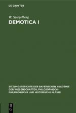 Cover-Bild Demotica I