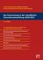 Cover-Bild Der Kurzvortrag in der mündlichen Steuerberaterprüfung 2020/2021