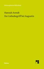 Cover-Bild Der Liebesbegriff bei Augustin