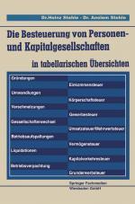 Cover-Bild Die Besteuerung von Personen- und Kapitalgesellschaften