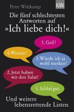 """Cover-Bild Die fünf schlechtesten Antworten auf """"Ich liebe dich!"""""""