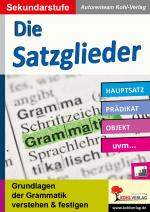Cover-Bild Die Satzglieder / Sekundarstufe