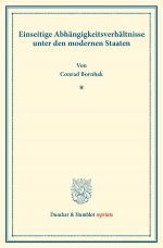 Cover-Bild Einseitige Abhängigkeitsverhältnisse unter den modernen Staaten.