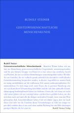 Cover-Bild Geisteswissenschaftliche Menschenkunde