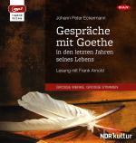 Cover-Bild Gespräche mit Goethe in den letzten Jahren seines Lebens