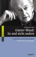 Cover-Bild Günter Wand: So und nicht anders