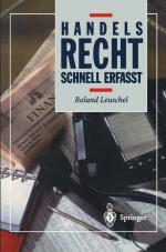 Cover-Bild Handelsrecht
