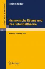 Cover-Bild Harmonische Räume und ihre Potentialtheorie