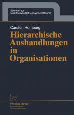 Cover-Bild Hierarchische Aushandlungen in Organisationen
