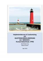 Cover-Bild Implementierung & Customizing der Quotenkonsolidierung mit SAP SEM-BCS