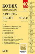 Cover-Bild KODEX Arbeitsrecht 2019/20
