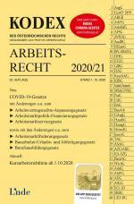 Cover-Bild KODEX Arbeitsrecht 2020/21