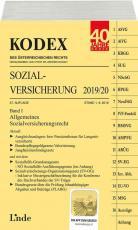Cover-Bild KODEX Sozialversicherung 2019/20, Band I