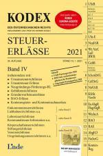 Cover-Bild KODEX Steuer-Erlässe 2021, Band IV