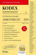 Cover-Bild KODEX Studienausgabe Arbeitsrecht 2020
