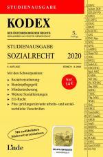 Cover-Bild KODEX Studienausgabe Sozialrecht 2020