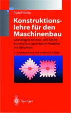 Cover-Bild Konstruktionslehre für den Maschinenbau