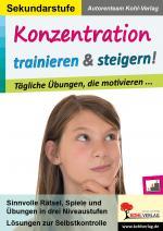 Cover-Bild Konzentration trainieren & steigern! / Sekundarstufe
