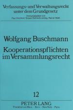 Cover-Bild Kooperationspflichten im Versammlungsrecht