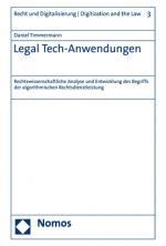 Cover-Bild Legal Tech-Anwendungen