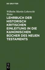 Cover-Bild Lehrbuch der historisch kritischen Einleitung in die kanonischen Bücher des Neuen Testaments