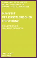 Cover-Bild Manifest der Künstlerischen Forschung
