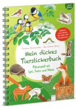 Cover-Bild Mein dickes Tierstickerbuch. Rätselspaß mit Igel, Fuchs und Meise