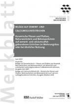 Cover-Bild Merkblatt Beläge auf Zement- und Calciumsulfatestrichen: 2019-08 (PDF)
