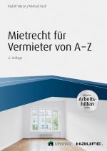 Cover-Bild Mietrecht für Vermieter von A-Z - inkl. Arbeitshilfen online