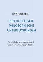 Cover-Bild Psychologisch-philosophische Untersuchungen