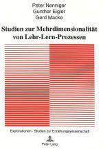Cover-Bild Studien zur Mehrdimensionalität von Lehr-Lern-Prozessen