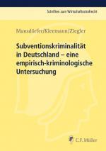 Cover-Bild Subventionskriminalität in Deutschland
