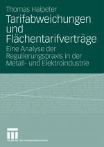 Cover-Bild Tarifabweichungen und Flächentarifverträge