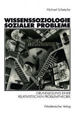 Cover-Bild Wissenssoziologie sozialer Probleme