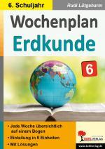 Cover-Bild Wochenplan Erdkunde / Klasse 6