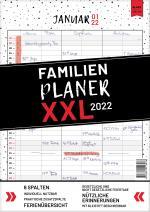 Cover-Bild XXL Familienplaner 2022 zum Aufhängen in DIN A3. Hochwertiger und übersichtlicher Familienkalender 2022 mit 3 bis 6 Spalten, plus einer Zusatzspalte. Wandkalender inklusive gesetzlicher und nicht-gesetzlicher Feiertage, Ferien und Zusatzinfos.