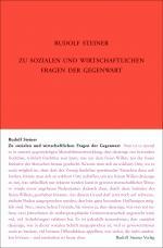 Cover-Bild Zu sozialen und wirtschaftlichen Fragen der Gegenwart
