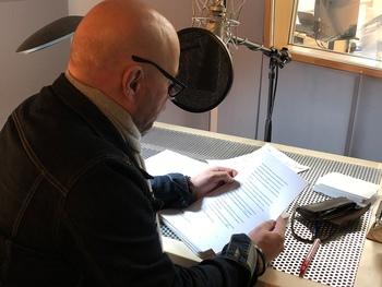 Thomas Balou Martin im Tonstudio