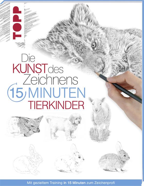 Cover-Bild 15 Minuten Kunst des Zeichnens Tierkinder
