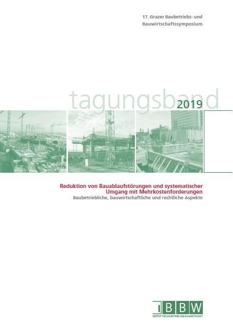 Cover-Bild 17. Grazer Baubetriebs- und Bauwirtschaftssymposium, Tagungsband 2019