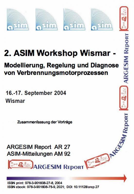 Cover-Bild 2. ASIM Workshop Wismar - Modellierung, Regelung und Diagnose von Verbrennungsmotorprozessen