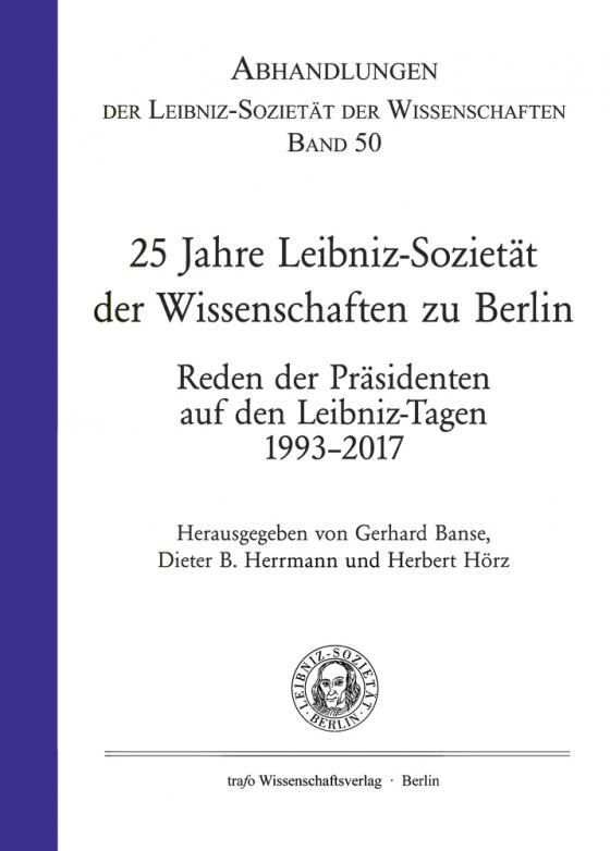 Cover-Bild 25 Jahre Leibniz-Sozietät der Wissenschaften zu Berlin