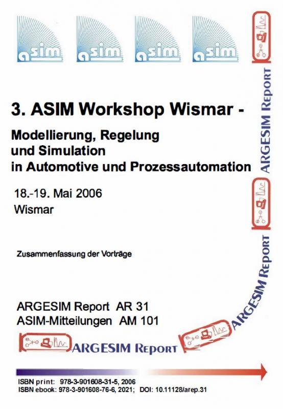 Cover-Bild 3. ASIM Workshop Wismar - Modellierung, Regelung und Simulation in Automotive und Prozessautomation