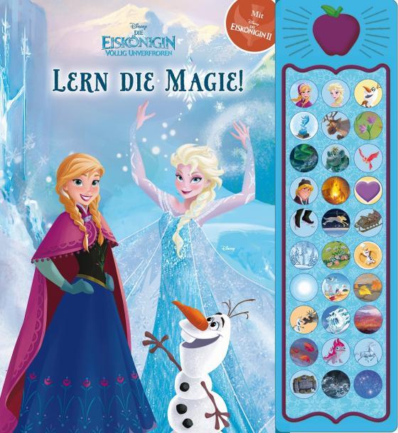 Cover-Bild 30-Button-Soundbuch - Disney - Die Eiskönigin, Lern die Magie! - interaktives Bilderbuch mit 30 zauberhaften Geräuschen