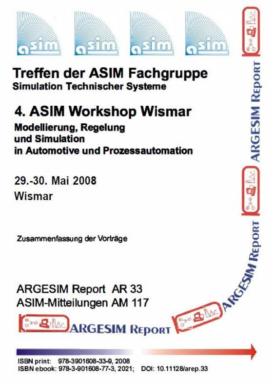 Cover-Bild 4. ASIM Workshop Wismar - Modellierung, Regelung und Simulation in Automotive und Prozessautomation
