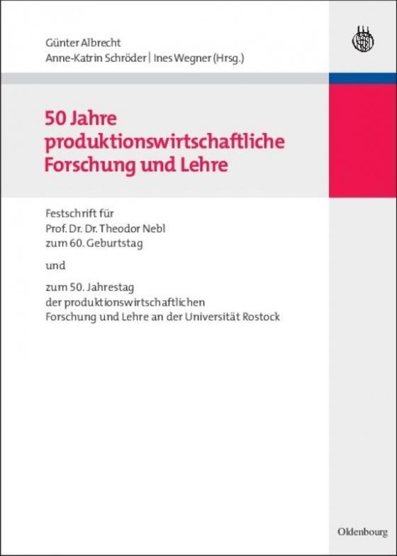 Cover-Bild 50 Jahre produktionswirtschaftliche Forschung und Lehre