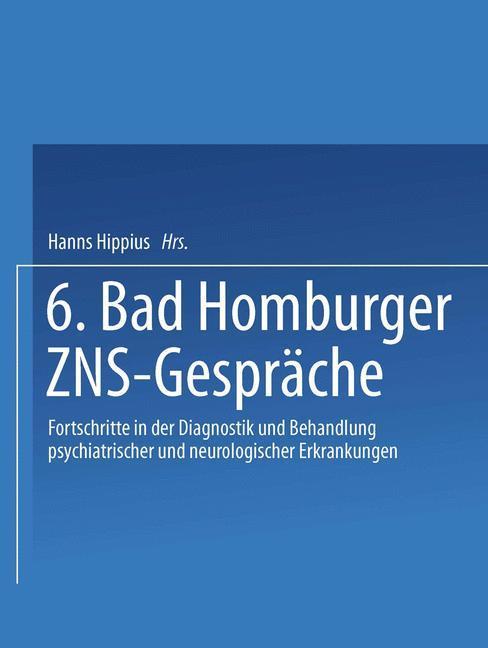 Cover-Bild 6. Bad Homburger ZNS-Gespräche
